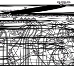 Struktur des Untersuchungskorpus visualisiert mit GraphViz. Ermittelt wurde diese anhand einer Auswahl von Trigrammen. Verlinkt ist das skalierbare, vollständige PDF.