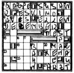 Zum Teil gelöste Kreuzworträtsel -- die einzige Spur // Quelle: http://goo.gl/pYvgl