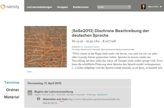 """Öffentliche Seite zum Seminar """"Diachrone Beschreibung der deutschen Sprache"""" im SoSe 2013"""