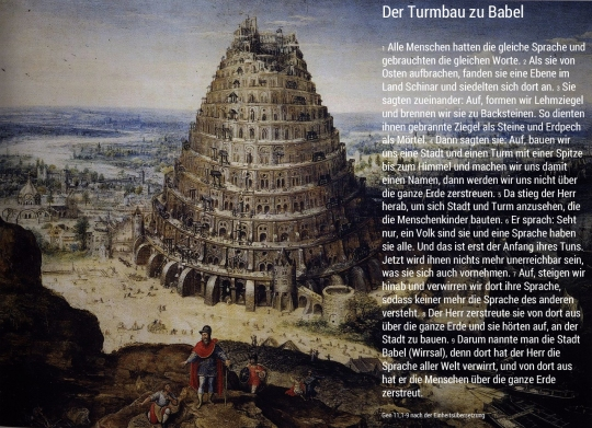 Lucas Van Valckenborch. 1594. Turm von Babel // http://goo.gl/uxawu. Text der Einheitsübersetzung // http://goo.gl/2F3u7.