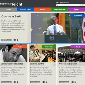 """Das Angebot """"Nachrichten leicht"""" des Deutschlandfunks // http://www.nachrichtenleicht.de/"""