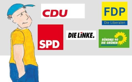 Wahlhilfebroschüre für die Bundestagswahl in Leichter Sprache -- ohne die Piraten // http://goo.gl/8kAAp