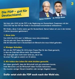 Das Wahlprogramm der FDP.