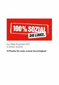 Titel des Programms der LINKEN.
